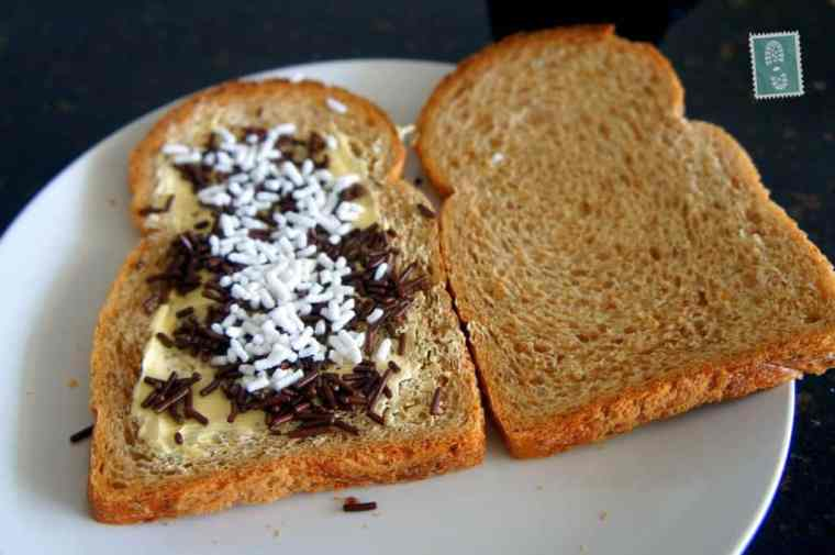 A bread with Dutch chocolate sprinkle
