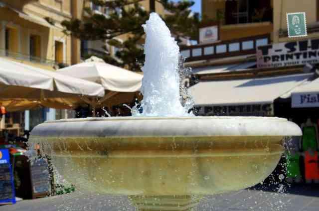 Fountain in Chania, Crete