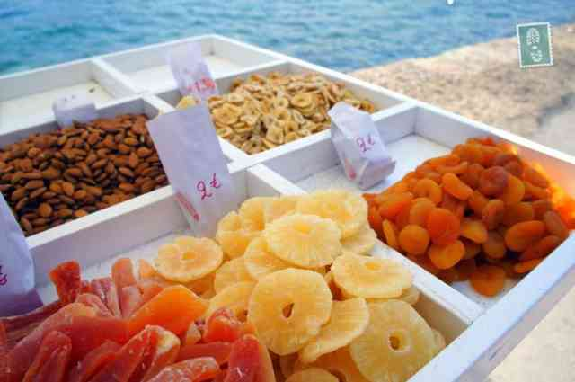 Dry fruits sold at the Venetian Harbour