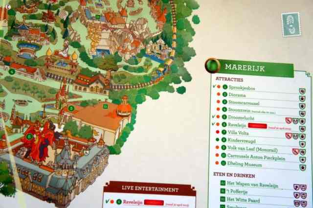 The map of Efteling