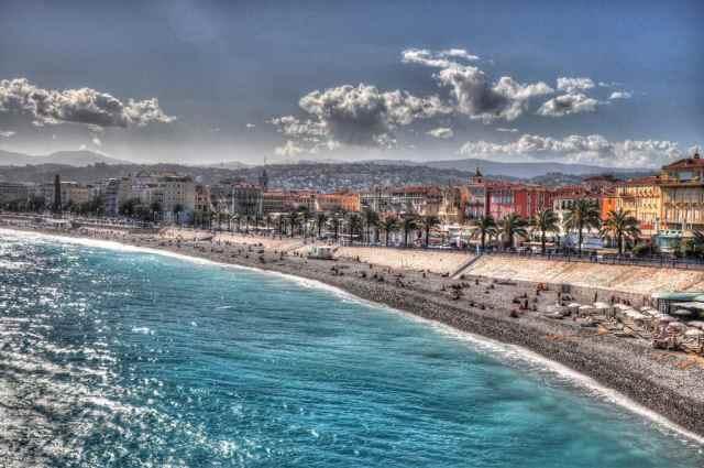 The beach in Nice