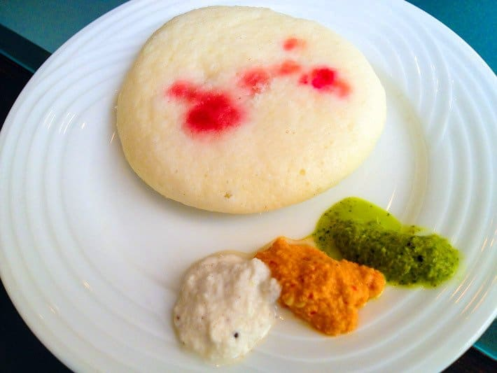 Idli with chutneys