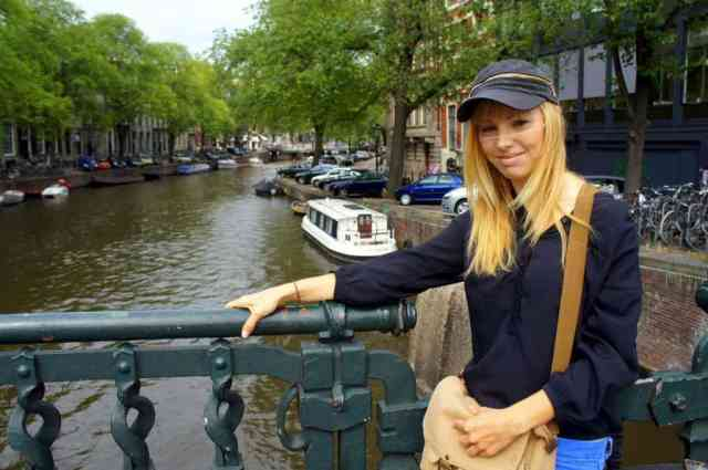 A girl visiting Amsterdam
