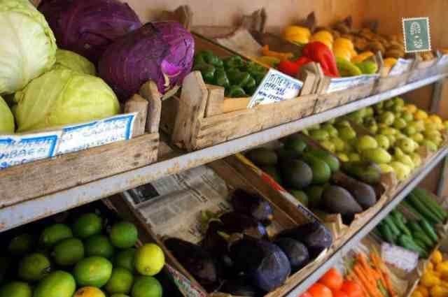 Local fruit market in Rethymno