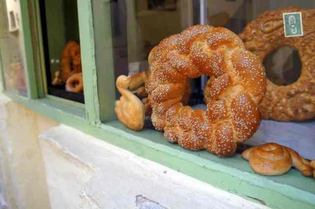 Freshly baked bread in Rethymno
