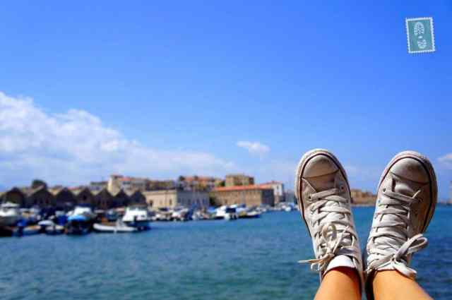 Exploring Chania with my sneakers on