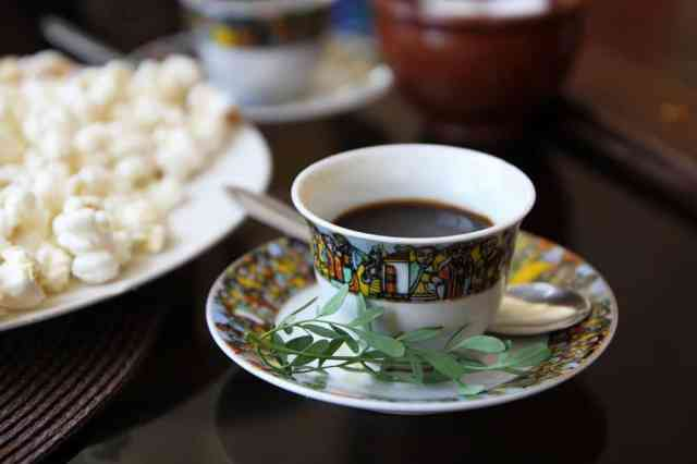 A cup of Ethiopian coffee
