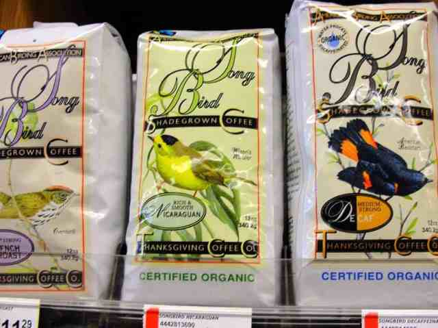 Organic, shade-grown coffee from California