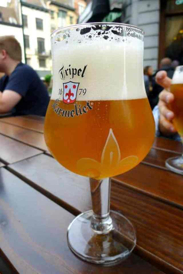 A pint of Belgian beer