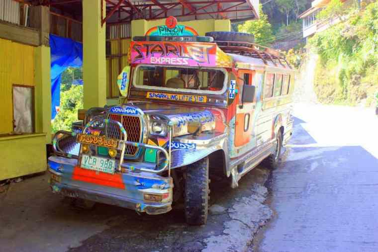Colorful jeepney in Banaue
