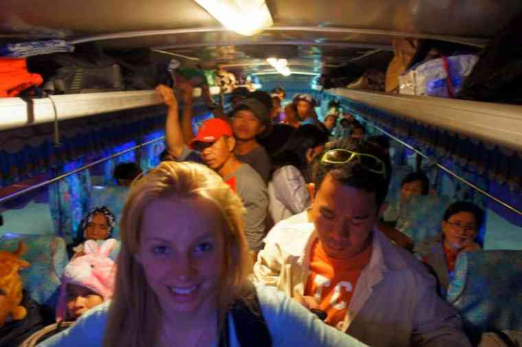 local bus from Laoag to Pagudpud