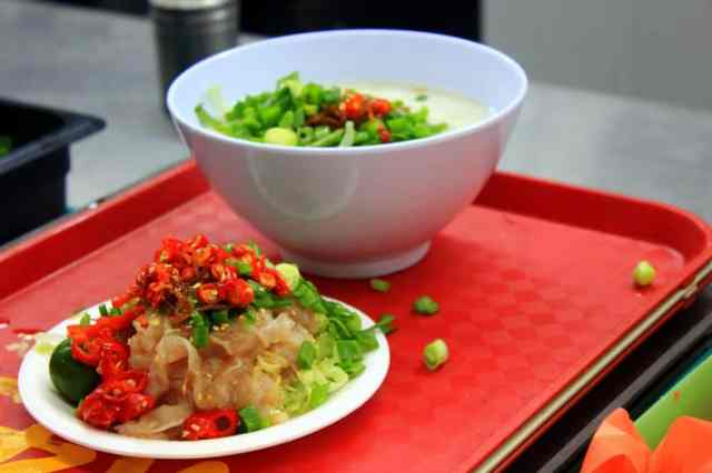 Chilli crap and fish soup