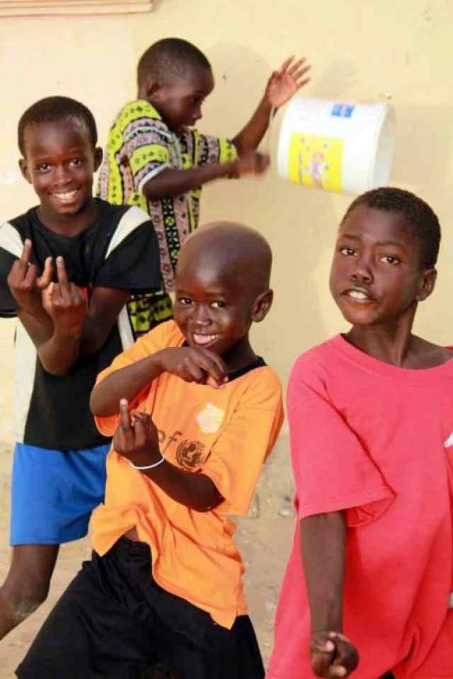 Happy black boys