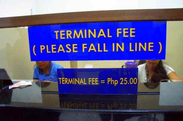 Terminal fees at Cebu ferry station