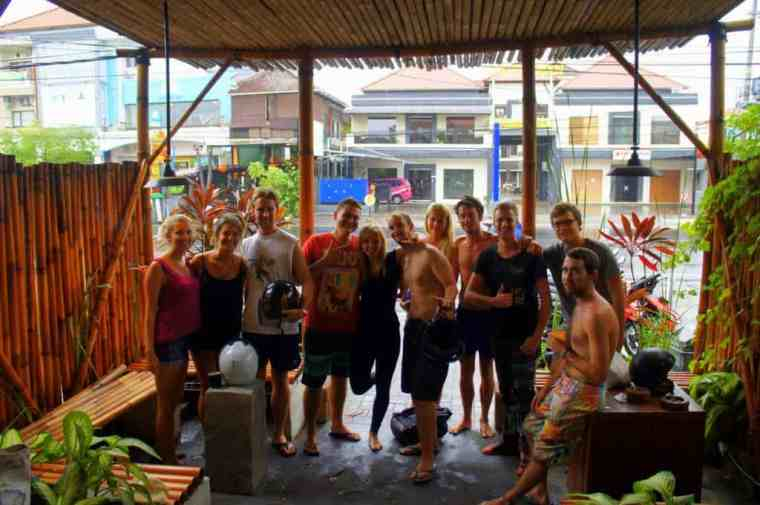 A group of people in Bali