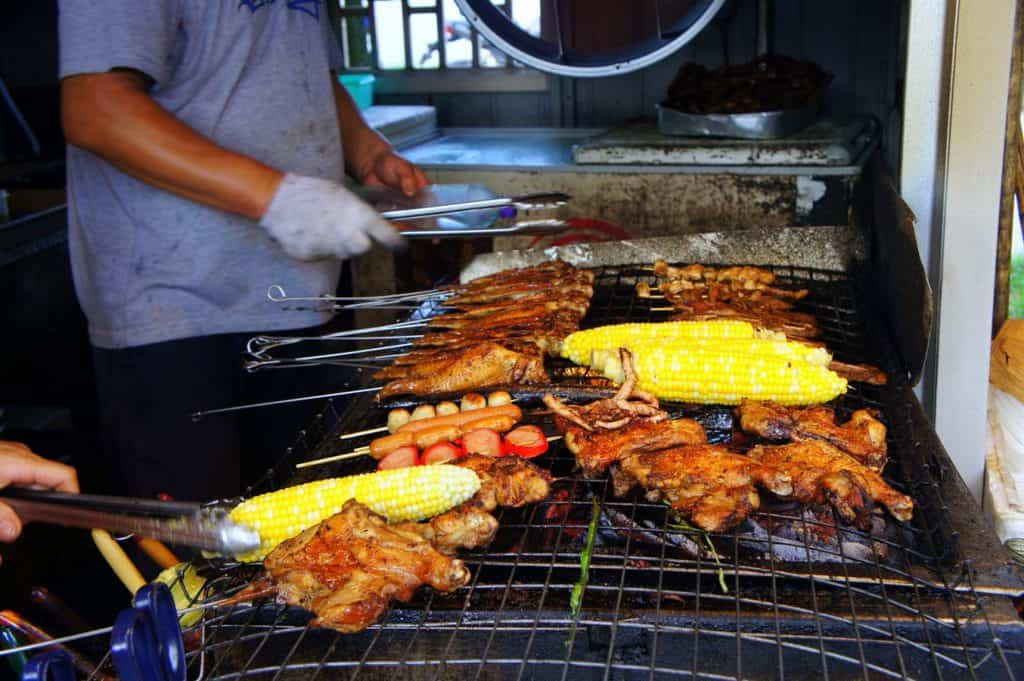 Grilled food in Macau