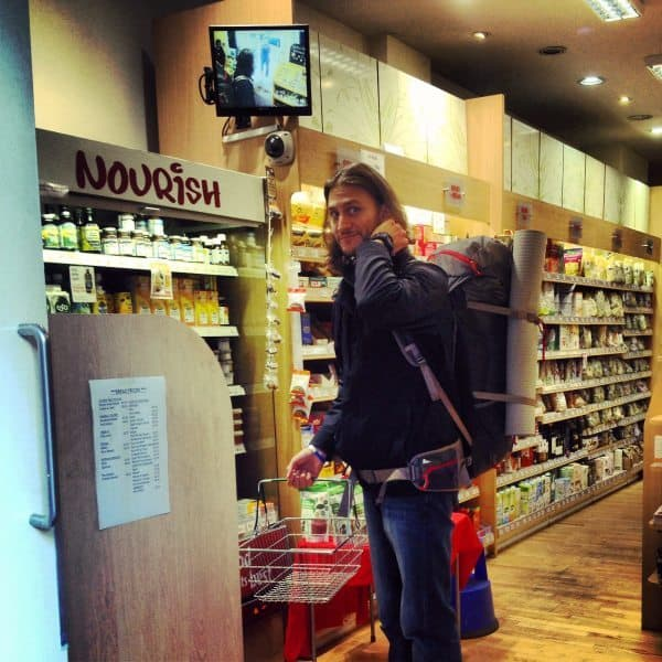 Brock at health food store in dublin
