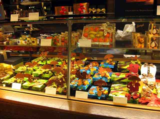 Cutline Some of the colourful chocolate offerings at Confiserie Sprungli in Zurich, Switzerland.