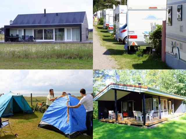 Campsites and summer houses