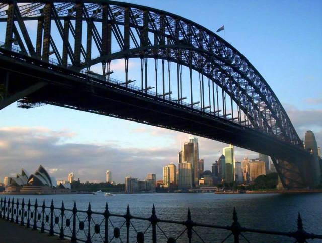 Dawn over Sydney Harbour