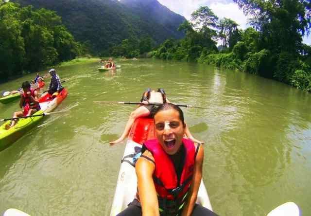 Lazy-Kayaking-in-Vang-Vieng