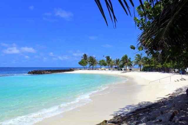 The artificial beach