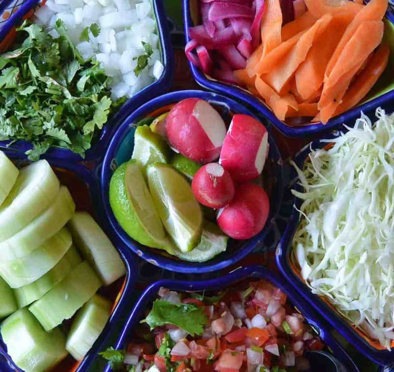 Various Salsa Toppings