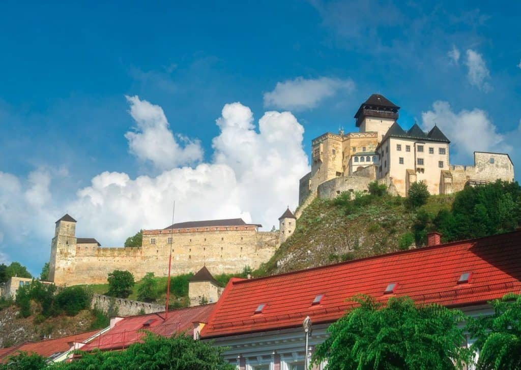 Trencin's Castle and Redroofs.