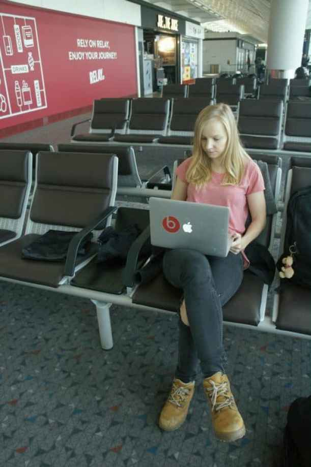 Agness working at the airport