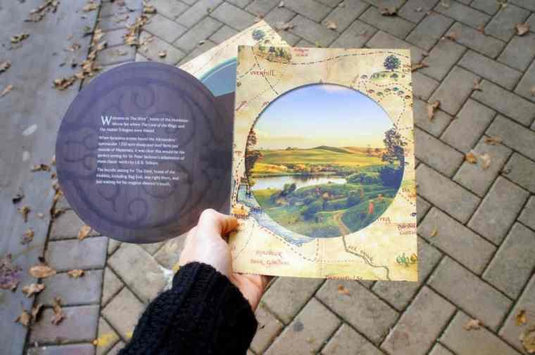 The map to Hobbit movie set