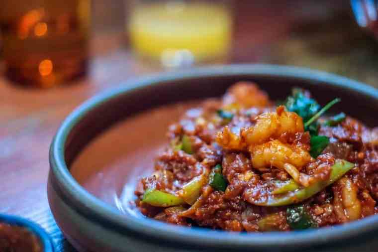 Best Dishes in London: Hot Butter Devilled Shrimps at Hoppers