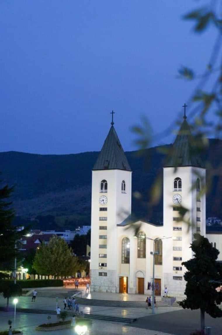 Hotel Grace night view, Medjugorje