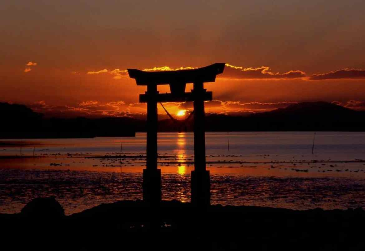 Sunset in Japan