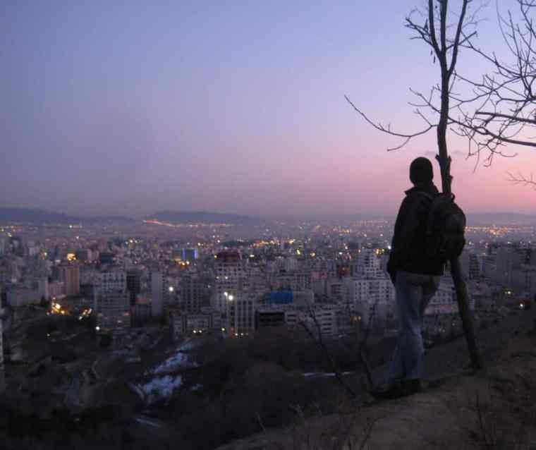 Sunset in Tehran