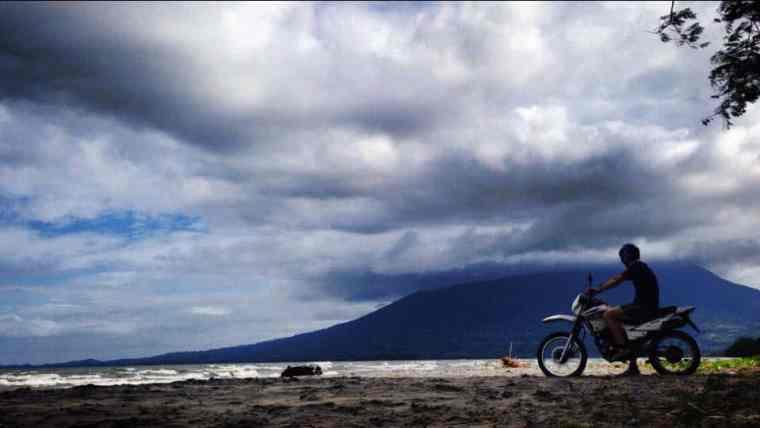 Motorcycle adventure in Ometepe, Nicaragua