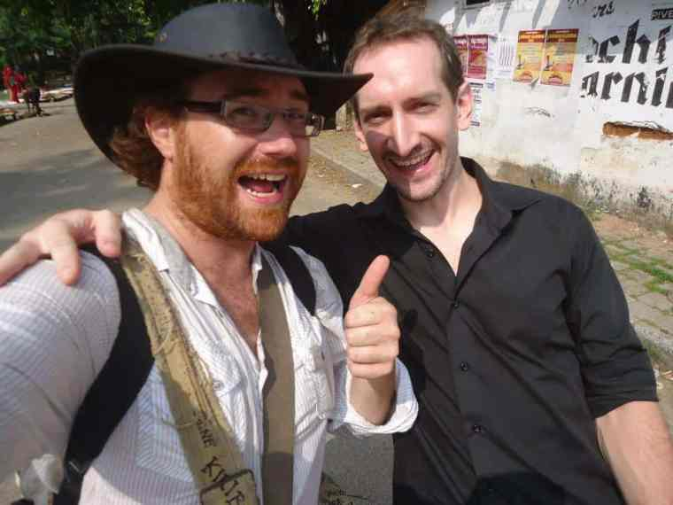 Meeting Graham Hughes in India