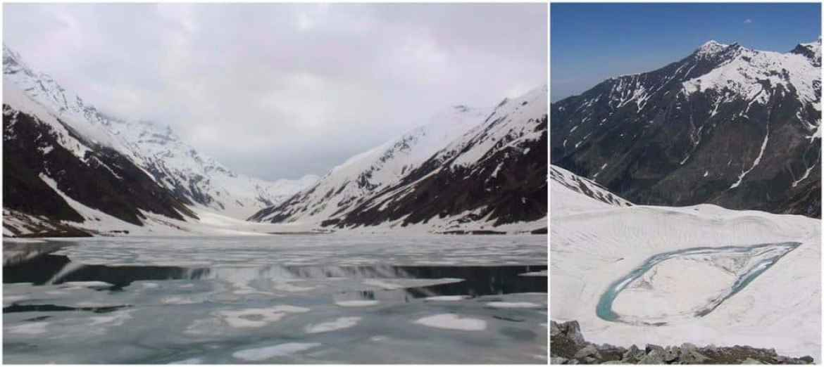 Lake Saif-ul-Malook (left) and Ansu Lake (right. Image wasilm88)