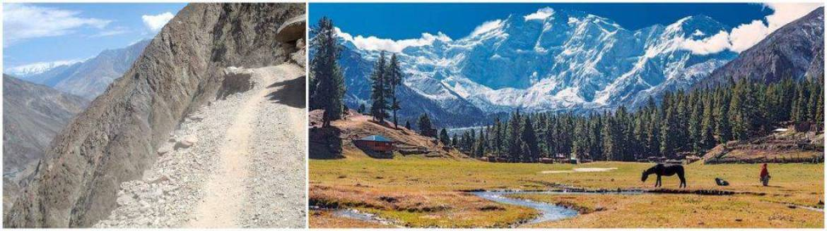 The road to Fairy meadows