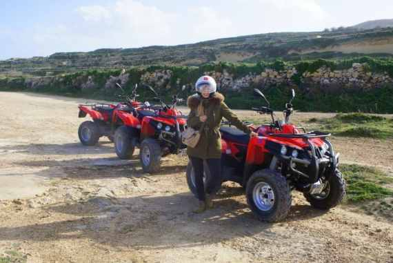 Agness and her quad bike