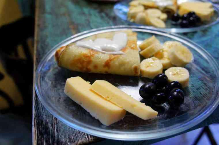 breakfast in Trinity Hostel