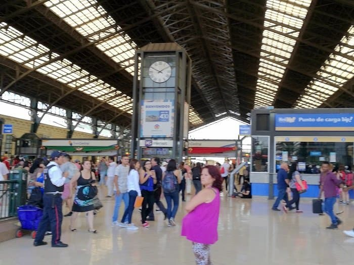 Estacion Central Santiago where travelers take the bus to other parts of the country