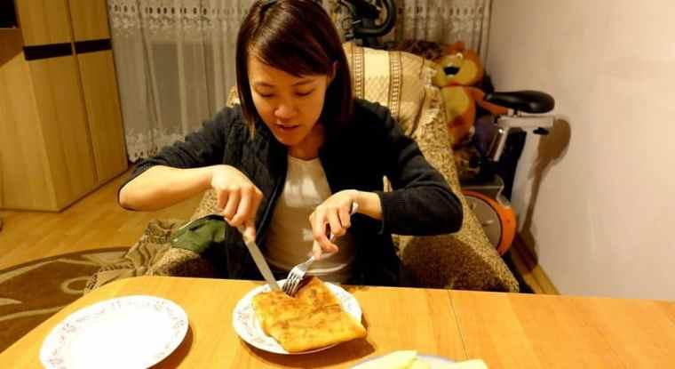 Food, glorious food – Lydia tucks in