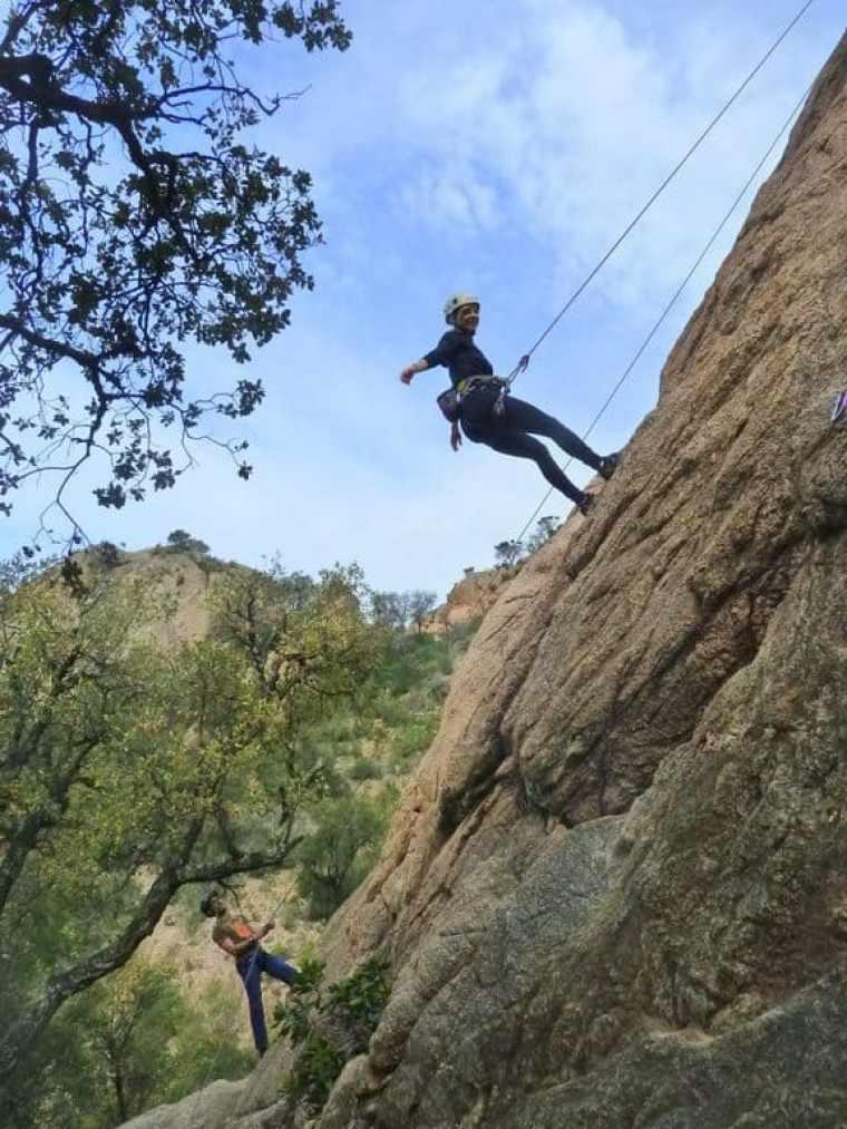 Rock climbing in Girona