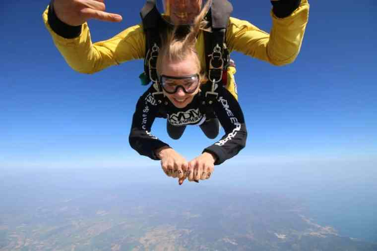 Skydiving in Costa Brava