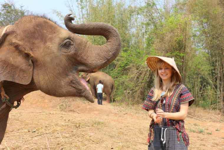 Agness and an elephant