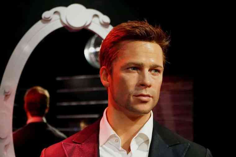 Wax figure of Brad Pitt in Madame Tussauds museum