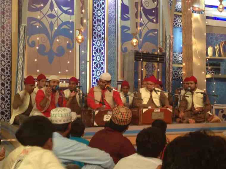 Qawwali in a tv studio, Lahore