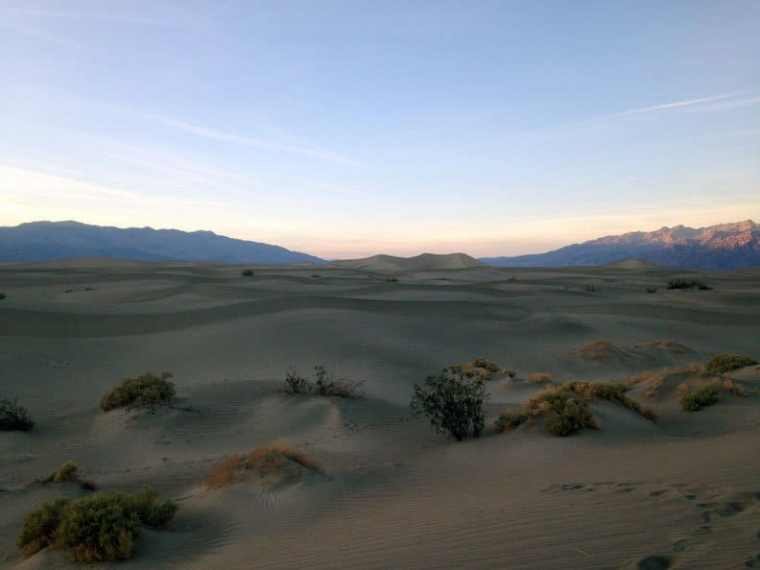 A view of Mesquite Sand Dunes