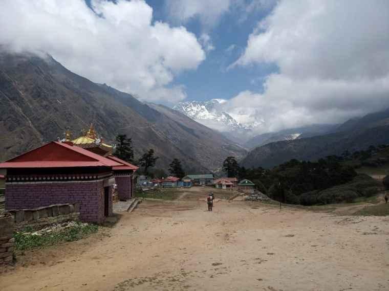 View from Tengboche Monastery