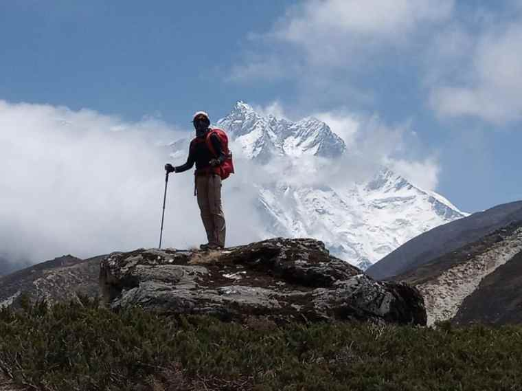 Lydia amidst the mountains - Everest Base Camp Trek